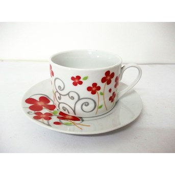 220cc Cup Saucer Red Clover