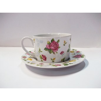 220cc Teacup Saucer desain Beautiful Rose