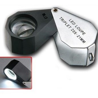 LED LOUPE TRIPLET 20 X - 21 MM