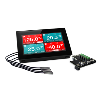 Panel Mountable Four-Channel Temp Data Logger