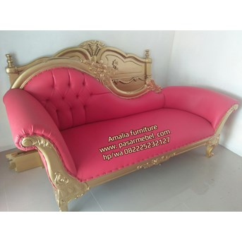 Sofa santai Lois finishing emas gold