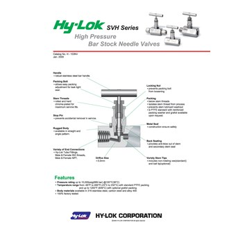 Hy-lok Needle Svh Series -2