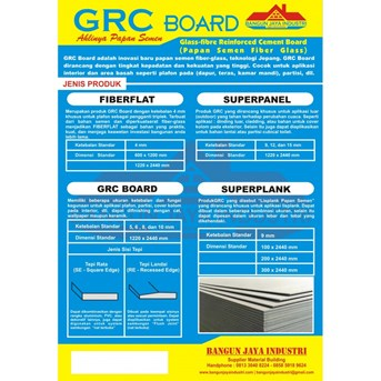 GRC BOARD ( PLAPON & DINDING PARTISI )