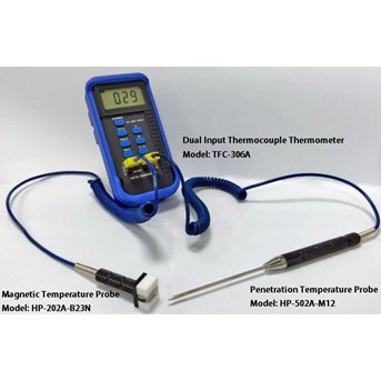Dua Channel Thermocouple Thermometer TFC-360A