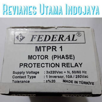 FEDERAL MTPR 1 Motor Protection Relay