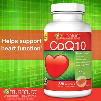 Trunature CoQ10 100 mg., 220 Softgels.