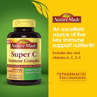 Nature Made Super C Immune Complex 900 mg., 200 Tablets.