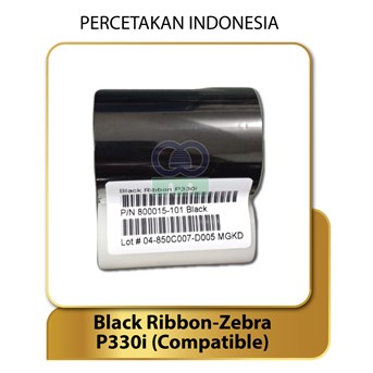 RIBBON BLACK MONOCHROME - ZEBRA P330i Compatible - Konsumabel Ribbon Tinta Printer