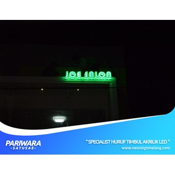 HURUF TIMBUL AKRILIK / ACRYLIC LED ADVERTISING UNTUK JOE SALON