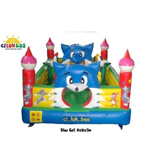Rumah Balon Blue Cat 4x6