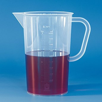 Graduated beaker, PP, embossed scale POLYPROPYLENE