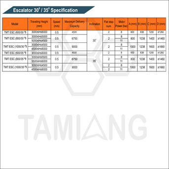 Tamiang Escalator Specification Elevator