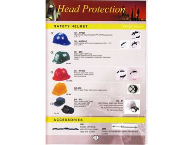 HEAD PROTECTION ( SAFETY HELMET, ACCESSORIES )