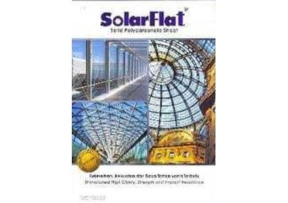 Atap Polycarbonate Solar Flat Clear Plain - Embosed