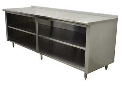 Open Cabinet stainless steel