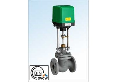 Motorized control valves for mixing and distribution of thermal oil and liquids and gases