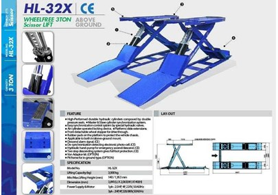 MINI SCISSORS LIFT HESHBON HL-32X ABOVE GROUND (LIFT PERBAIKAN MOBIL)