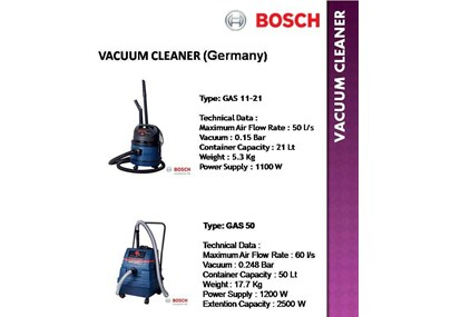 VACCUM CLEANER WET & DRY BOSCH GAS-50