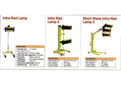 INFRARED LAMP + STAND FOR BODY REPAIR