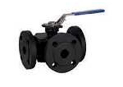 BEE- 3 Way flanged ball valves in cast steel or stainless steel