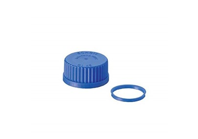 DURAN 29 239 13 Screw Cap from PP¹, with Lip Seal, Blue, 25 DIN Thread GL (Pack of 10) tutup botol