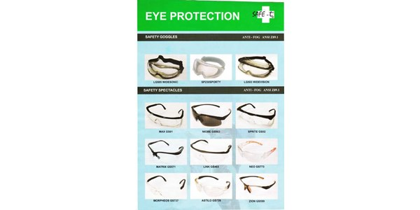 eye protection : safety goggles anti - fog, safety spectacles anti - fog