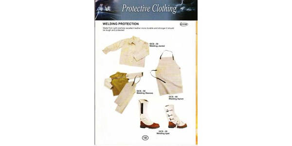 protective clothing : welding protection ; gcs - 30, gcs - 50, gcs - 60, gcs - 20