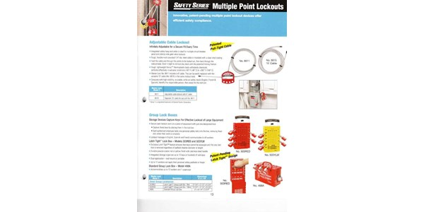 safety series multiple point lockouts