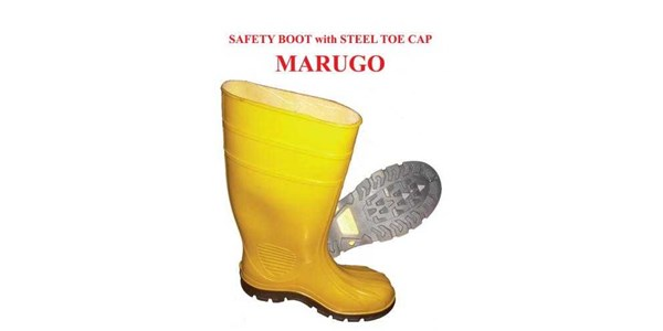 marugo safety boot pvc with steel toe cap