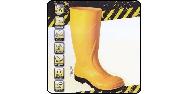 safety shoes boot pvc ap with steel mid sole s3 yl