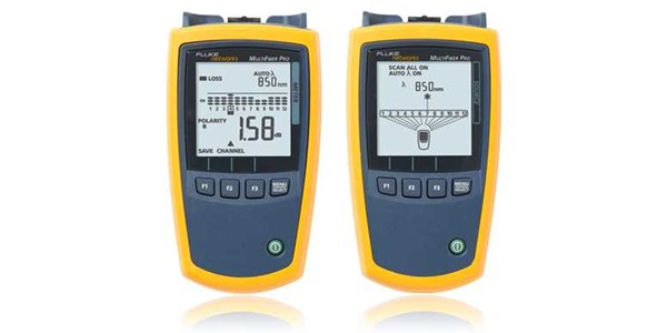 fluke multifiber™ pro optical power meter and fiber test kits the first tester to automate mpo fiber testing.