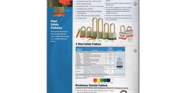 gembok 3 steel safety padlock
