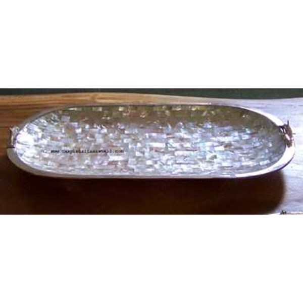 bowl big astry oval with silver