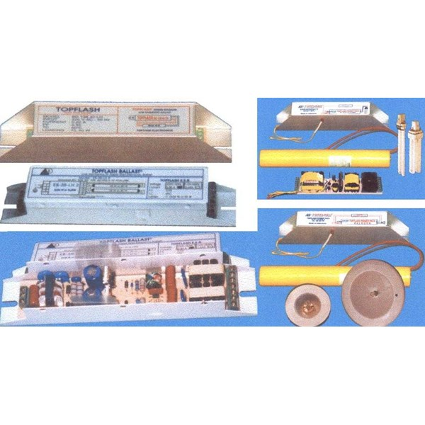 integrated electronic ballast, emergency light, capacitor