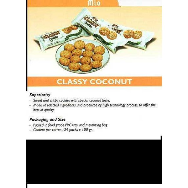 biscuit, classy coconut, mia brand