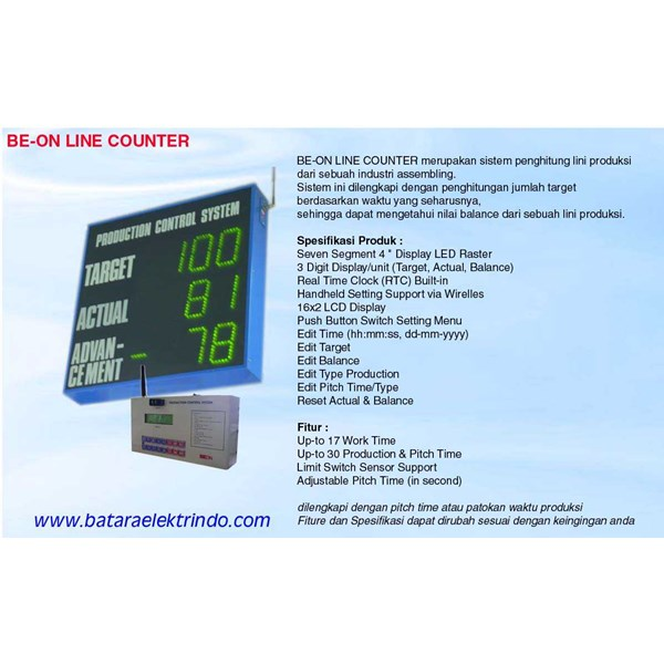 andon wirelles line counter