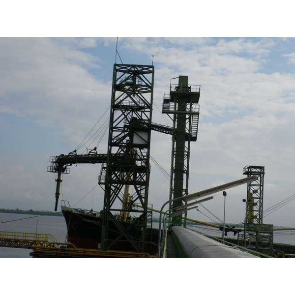 conveyor and bucket elevator system for industry