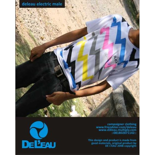 de leau electric male tees