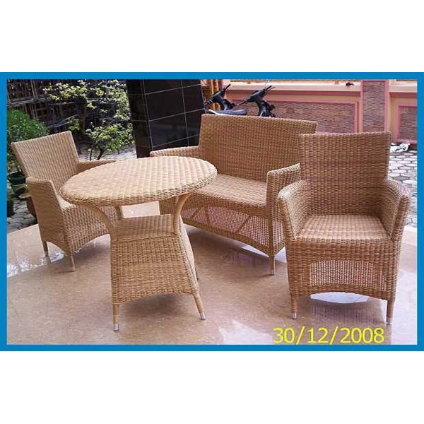 rattan plastic patio set