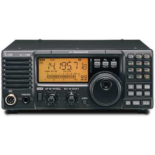 radio rig icom ic-718 hf all band transceiver