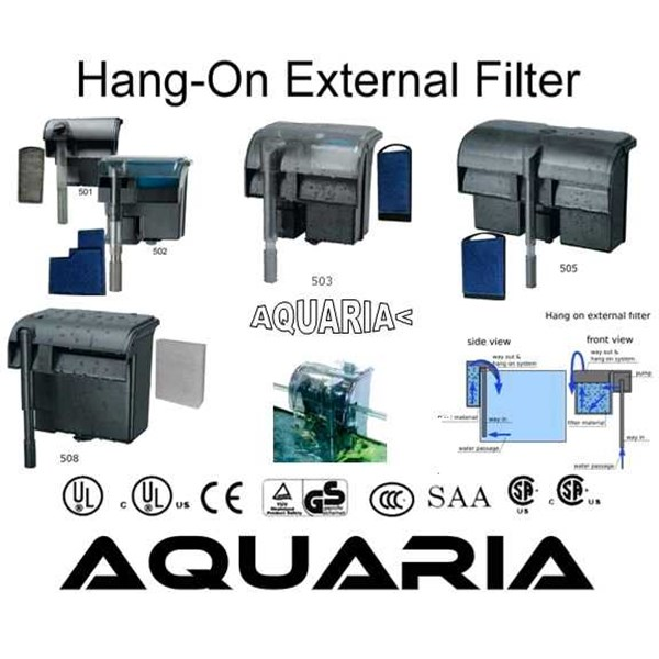 jebo bio-filter gantung akuarium model air terjun jebo hang-on aquarium filter