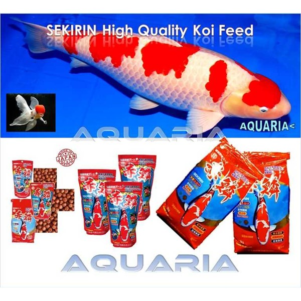 pakan ikan koi dan mas koki sekirin koi and goldfish food from japan