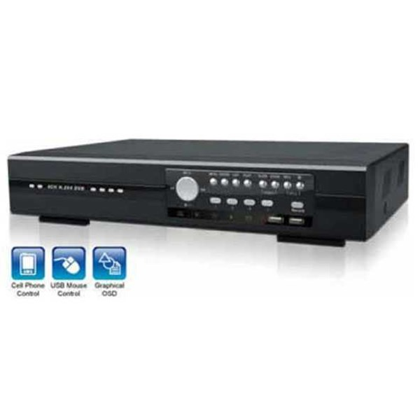 dvr standalone 4 ch h264 with usb backup & remote control