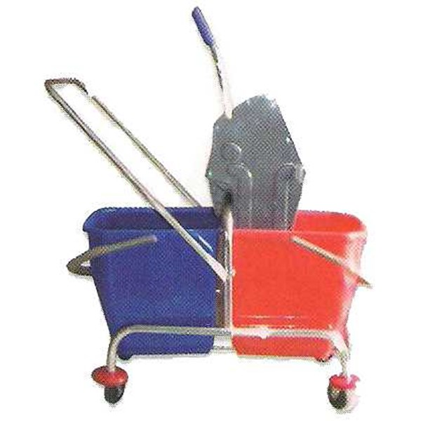 double bucket stainless, perlengkapan hotel/ peralatan hotel/ house keeping product/ room boy cart/ bell boy/ house keeping cart/ janitor trolley/ lugage trolley/ room boy / trolley/ bell boy trolley/ house keeping trolley, bell boy, room boy trolley