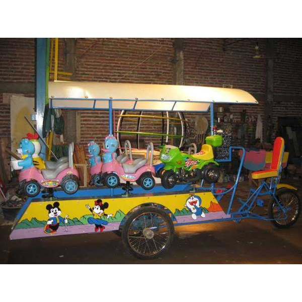 becak odong-odong - isi 6 anak