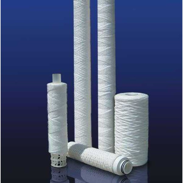 wound cotton cartridge filter with core stainless steel / tin steel / pp