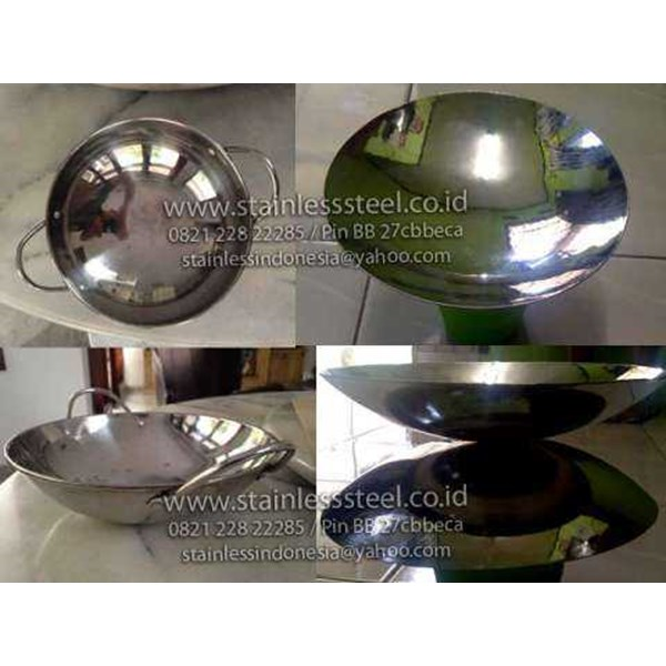wajan stainless | panci stainless | pan stainless | penggorengan stainless