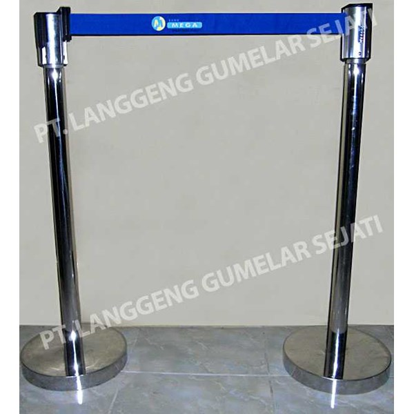 q-up stand | barrier | standing rope | tiang antrian stainless | pembatas antrian stainless