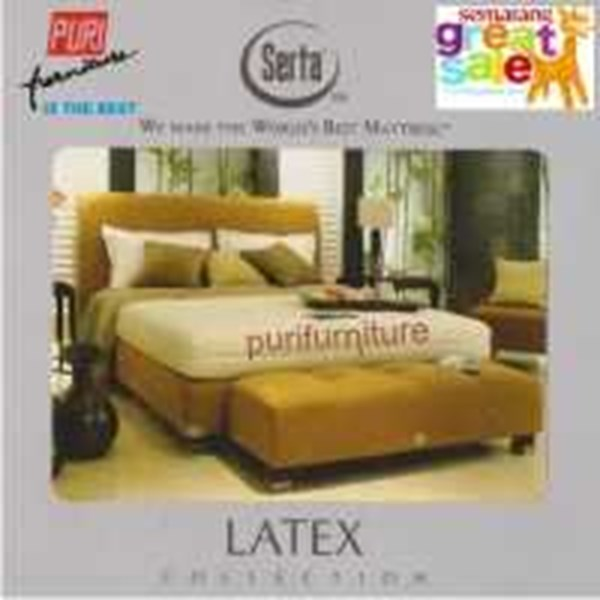 serta spring latex bed / kasur per pegas latex