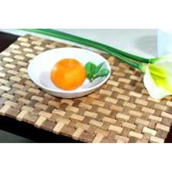 wooden placemat